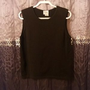 SALE! $31. Lilly Pulitzer Black Cotton Knit Top